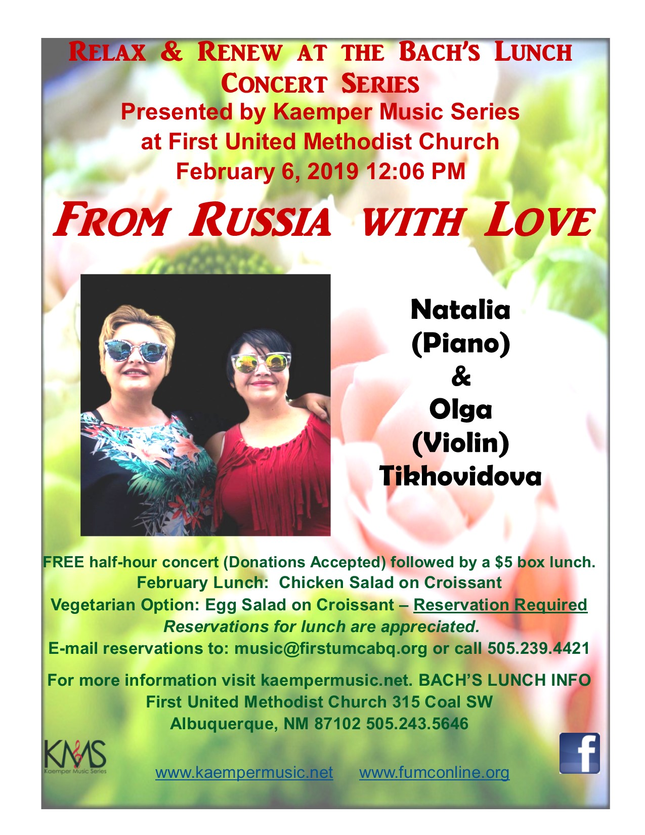 From Russia with Love – Piano & Violin Concert